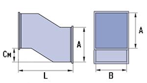 Утка прямоугольного сечения схема