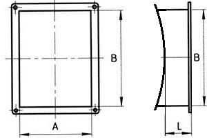 врезка прямоугольная в диаметр схема