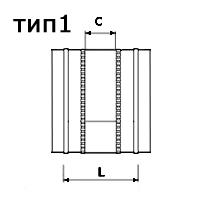 гибкая вставка круглого сечения тип 1