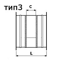 гибкая вставка круглого сечения тип 3