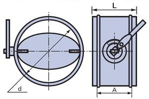 дроссель-клапан круглого сечения схема