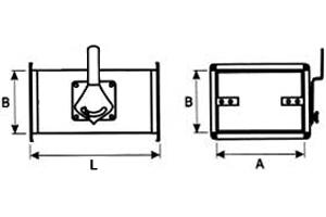 дроссель-клапан прямоугольного сечения Cхема