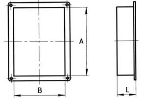 заглушка прямоугольного сечения схема