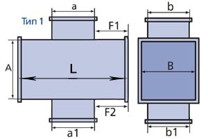 крестовина прямоугольного сечения схема тип1