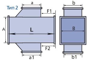 крестовина прямоугольного сечения схема тип2