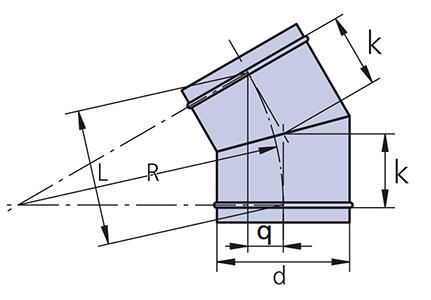 отвод 30 схема
