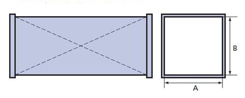 прямой участок прямоугольного сечения схема