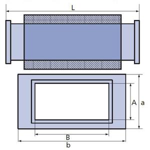 шумоглушитель прямоугольный схема