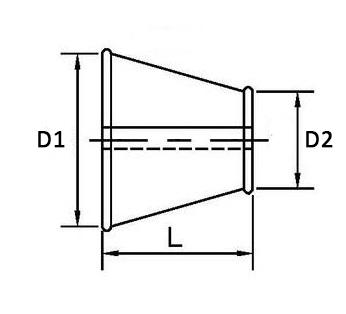 оболочка разъемная для теплоизоляции трубопроводов переход