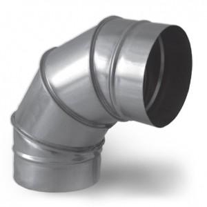 Отвод 90 градусов круглого сечения вентиляция воздуховоды