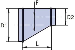 переход круглого сечения односторонний схема