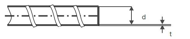 прямой участок витая труба схема