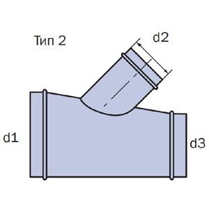 тройник 45 схема тип2
