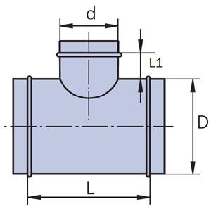 тройник 90 схема