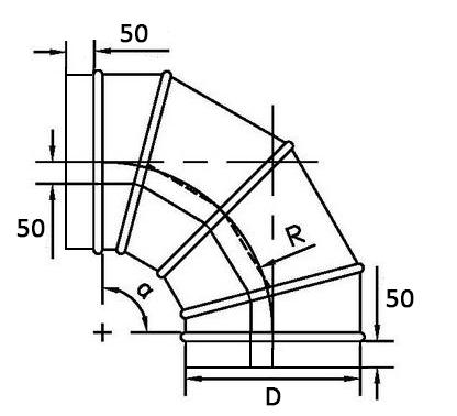 оболочка разъемная для теплоизоляции трубопроводов отвод 90