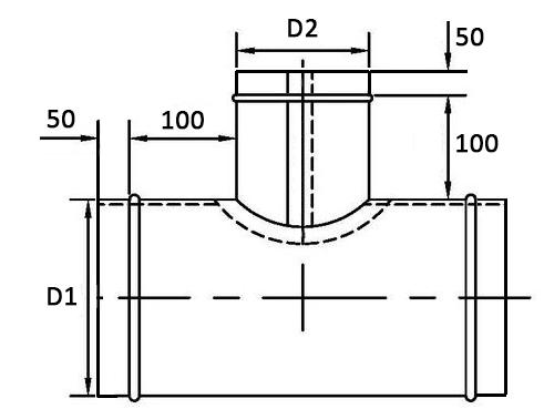 оболочка разъемная для теплоизоляции трубопроводов тройник